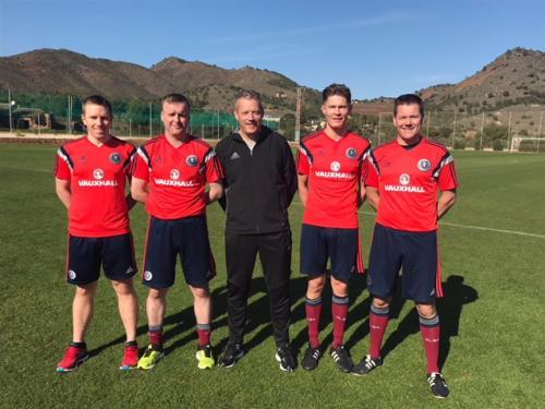 Graeme Stewart, Joe Lawson, Iain Brines, David Dickinson & Alasdair Ross
